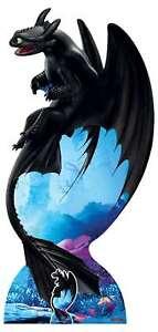 Toothless Night Fury De How Pour Train Votre Dragon 3 Officiel Carton Découpe
