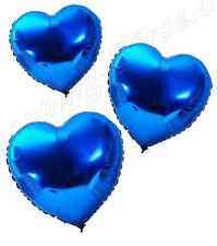 !!! Folienballon, Herzballon, für Helium Farbe Blau Inhalt 10 Ballons !!!