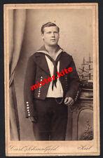 CDV-Vintage Photo Portrait-militär-matrose-Kiel-Carl Schmalfeld