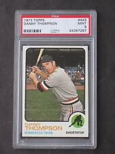1973 Topps Danny Thompson ERROR VARIATION # 443 Twins PSA 9 MINT
