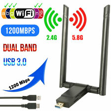 1200Mbps 2.4/5.8GHz WiFi Adapter Dual Band Dongle USB 3.0 WLAN Empfänger Stick