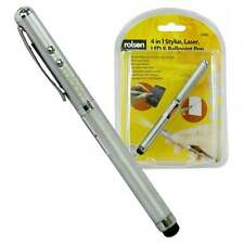 Rolson 4 in 1 LASER POINTER Stylus capacitiva TORCIA LED & Penna a Sfera NUOVO con scatola