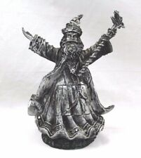 "Summoning Wizard Figurine with Robe Cupboard 8"" H Free Shipping"