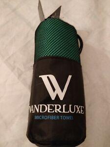 WANDERLUXE Microfiber Suede Towel Emerald Green NWT