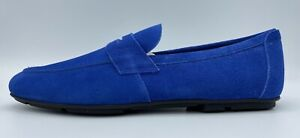$600 Salvatore Ferragamo Nuevo Royal Blue Suede Drivers US 10 Made in Italy