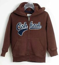 OSHKOSH B'GOSH Size 4 Boys Brown Front Zipper Hoody Jacket