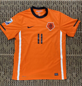 NETHERLANDS 2010 2012 HOME FOOTBALL SHIRT SOCCER JERSEY NIKE 376906-815 ROBBEN