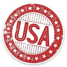 2 x USA America Vinyl Sticker Car Travel Luggage #9308