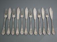 Besteck,Heinrich Vogeler,Herbstzeitlose,12 tlg.Fischbesteck,Jugendstil,Silber