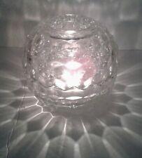 Round Glass Fairy Light Lamp Candle Holder Home Interiors 2 Piece Cubist Euc