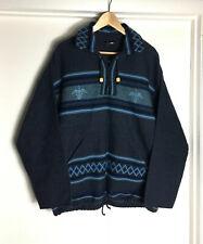 Vintage Peru Artesania Landa Full Zip Jacket Wool M/L Aztec Tribal Blanket Hand