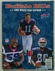 Buffalo Bills 2002 Official Team Yearbook Bledsoe Fletcher Moulds