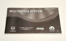 CHRYSLER DODGE JEEP MULTIMEDIA USER' S OWNERS MANUAL REN RADIOCD DVD HDD MYGIG