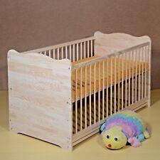 Babybett Gitterbett Set Komplett 70x140 UMBAUBAR 2in1 Matratze Massivholz Gavur