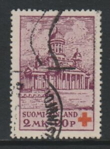 Finland - 1932, 2m + 20p Red Cross stamp - Used - SG 294
