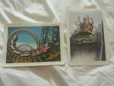 More details for 2 oversize alton tower postcards featuring the log flume and the corkscrew
