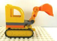 Lego Duplo Back Hoe w/ bulldozer base
