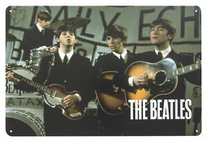 The Beatles DAILY ECHO Metal Wall Sign Steel Plaque Bar Gift (20cm x 30cm)