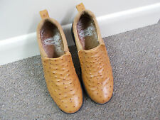 JUSTIN Boot Company Ostrich Skin Leather Loafer Shoes Clogs #192 Men's 8.5