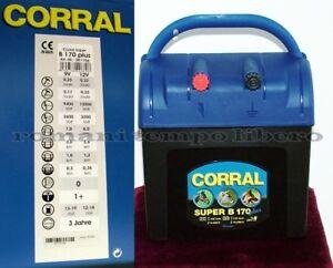 Elettrificatore per recinti elettrici New Corral Super B170 Plus 9v -12v e 230v