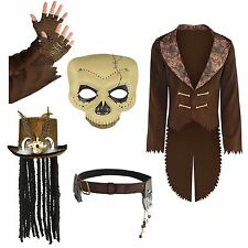 Adult Mens Witch Doctor Voodoo Magic Halloween Fancy Dress Bundle Accessory Kit