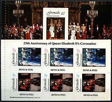 Grenada 1978 SG#950a-952a Coronation 25th Anniv MNH Booklet Pane Set #D52261