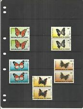 Niger 1983 Butterflies Set in Se-tenant Pairs CTO