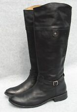 Frye Shirley Rivet Tall Leather  Boot Size 8.5  Black