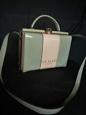LOVELY TED BAKER LTD ED RARE PATENT CROWN NUDE GREY GRAB BAG MESSENGER NEW FAB