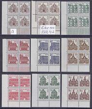West Berlin  Mi. Nr. 242 - 249 m. a/b = l. u. Eckrand / VB postfr. Jahrgang 1964