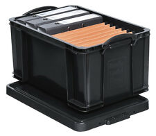 REALLY USEFUL BOX schwarz 48 Liter Lagerbox Stapelbox Kiste Eurobox 639393
