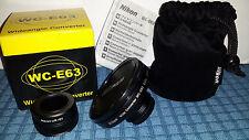 Nikon UR-E2 adaptor + Nikon WC-E63 Wideangle Converter Lens Coolpix 990 880 etc.