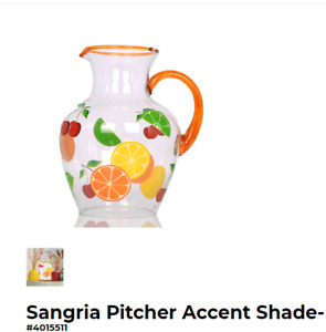 PINK ZEBRA Sangria Pitcher Accent Shade NIB