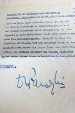 Signiertes Typoskript Abdul Qudus FAROQUI (1901-1969): Zusammenfassung der INDER