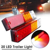 2x Feux Arriere Freinage Stop Clignotant LED Éclairage Camion Remorque Fourgon