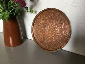 Antique Arts & Crafts Copper Plate Tray #6307