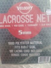 Velocity 5Mm Lacrosse Net | Single or Double Pack | Weatherproof, Uv Resistan.