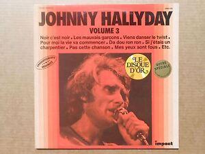 Johnny Hallyday vol 3 33T LP Compilation Impact noir c'est noir