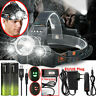 100000LM 3X T6 LED Rechargeable Head Torch Headlamp Lamp Flashlight Work Light