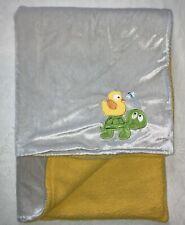 Nuby Baby Blanket Duck Turtle Gray Yellow
