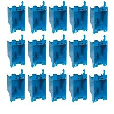 """15-Pc 14"""" Single-Gang Wall Outlet Switch Old-Work Plastic Electrical-Box Remodel"""