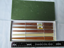 Chopsticks - set of 5 pairs in assorted natural woods.