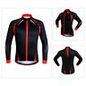 Men's Cycling Jersey Softshell Fleece Jacket MTB Long Sleeve Coat Bike Clothing
