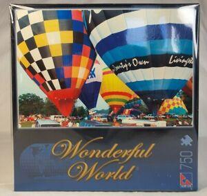 Sure-Lox Jigsaw Puzzle Wonderful World Hot Air Balloons 750pc 60x40cm