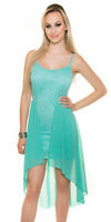 Strappy sexy dress minty green lace dress with chiffon skirt one size 8 10 12