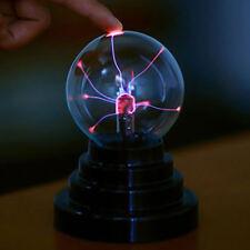 USB Plasma Ball Sphere Light Magic Crystal Lamp Desktop Globe Laptop Decor UK