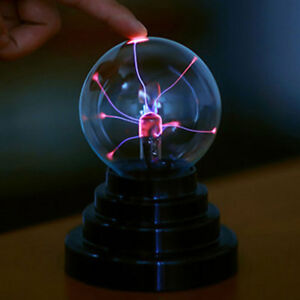 USB Plasma Ball Sphere Light Magic Crystal Lamp Desktop Globe Laptop Decor UK