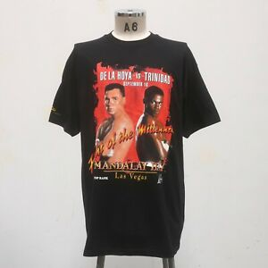 Vintage Oscar De La Hoya vs Felix Trinidad 1999 Boxing Shirt Size XL Tee