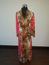 2X Plus size Watashi Red Animal Print Silk Kimono, Brand New Long Robe, Maxi