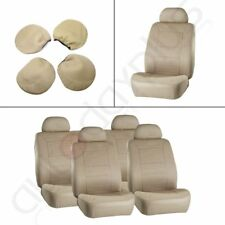 New 2 Front + 2 Rear Vehicles Car Seat Covers w/4 Headrest Covers For Nissan